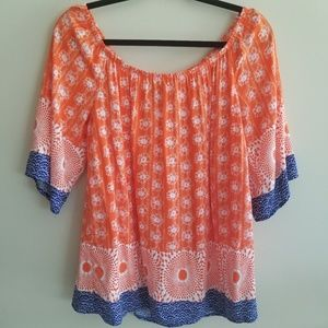 Bobeau size M off the shoulder boho shirt